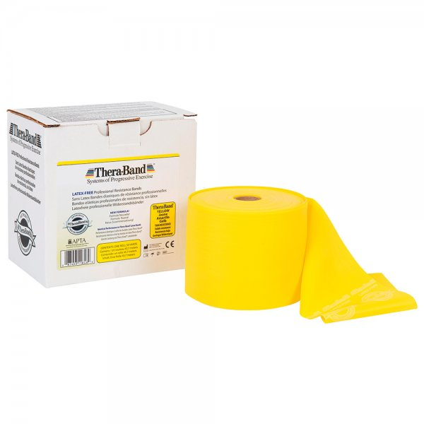 Thera Band Latexfrei 45,7 Meter Leicht (Gelb)