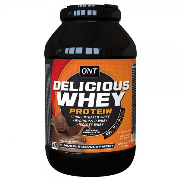 QNT® Delicious Whey Protein 2,2kg Chocolate