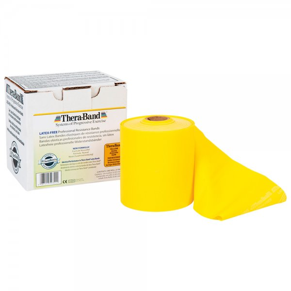 Thera Band Latexfrei 22,85 Meter Leicht (Gelb)