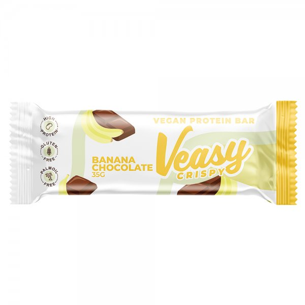 Veasy Crispy Vegan Protein Bar Banana Chocolate